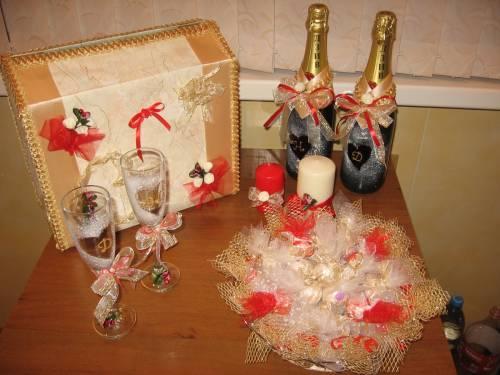 Свадебная атрибутика - Свадебные штучки - Фотоальбомы - Конфетные букеты и композиции